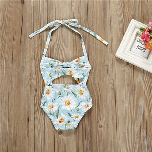 095193519e 1-6T Kids Baby Girl Floral Swimwear Clothing Summer Outfits Bathing Suit  One-Piece Bodysuit Swimsuit Hollow Out