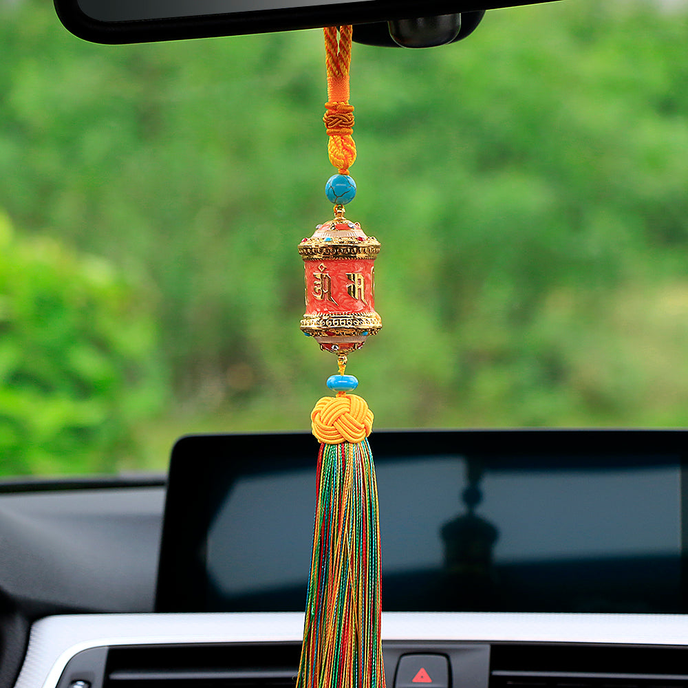 eiffel view mirror and car flower rear charm pendant towel watch