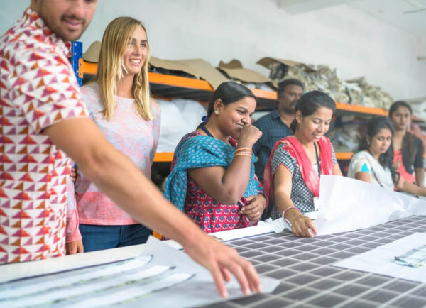 Clothing factory workers in India