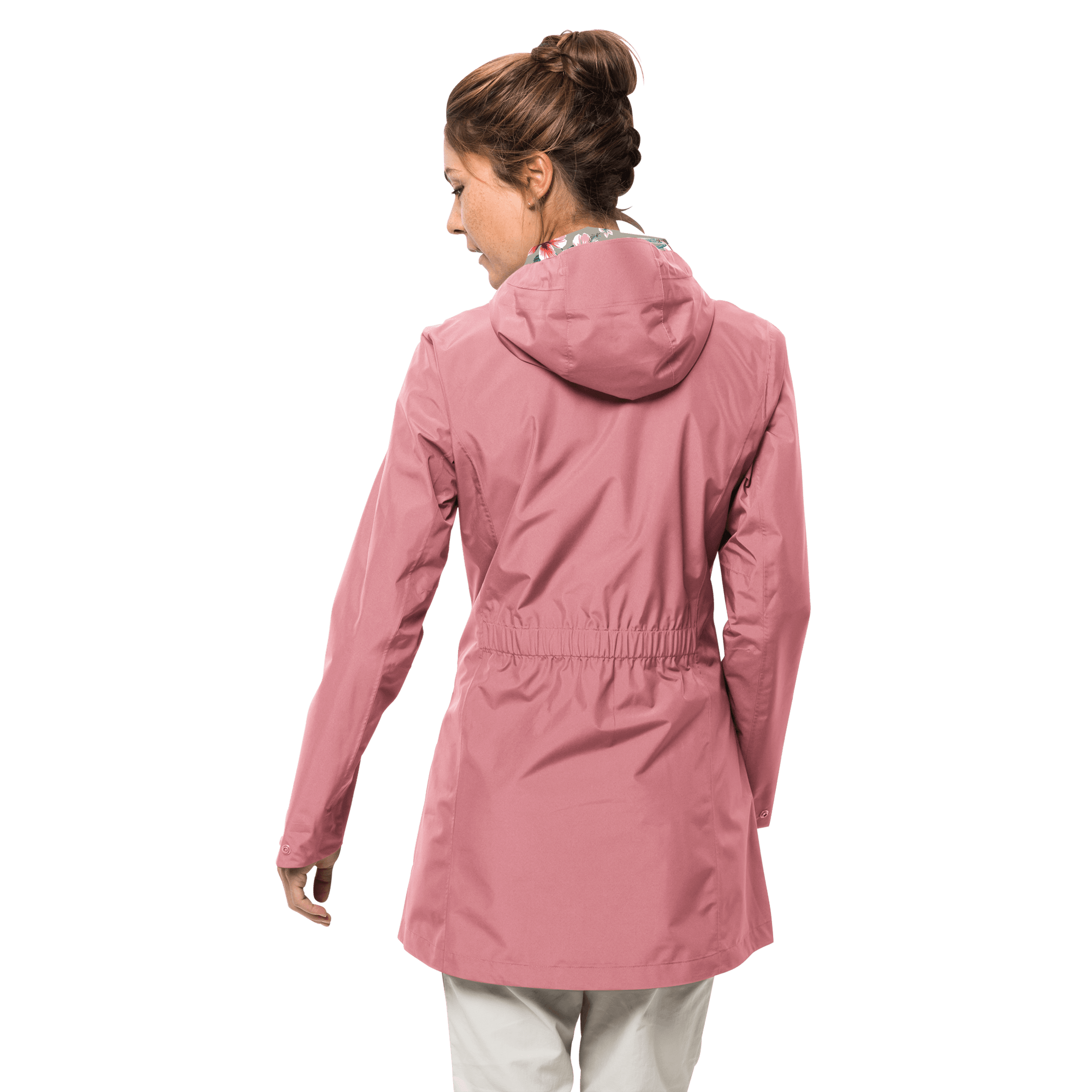 c1e3a6bb9 Women's CAPE YORK COAT - Rose - Waterproof coat from 100% recycled ...
