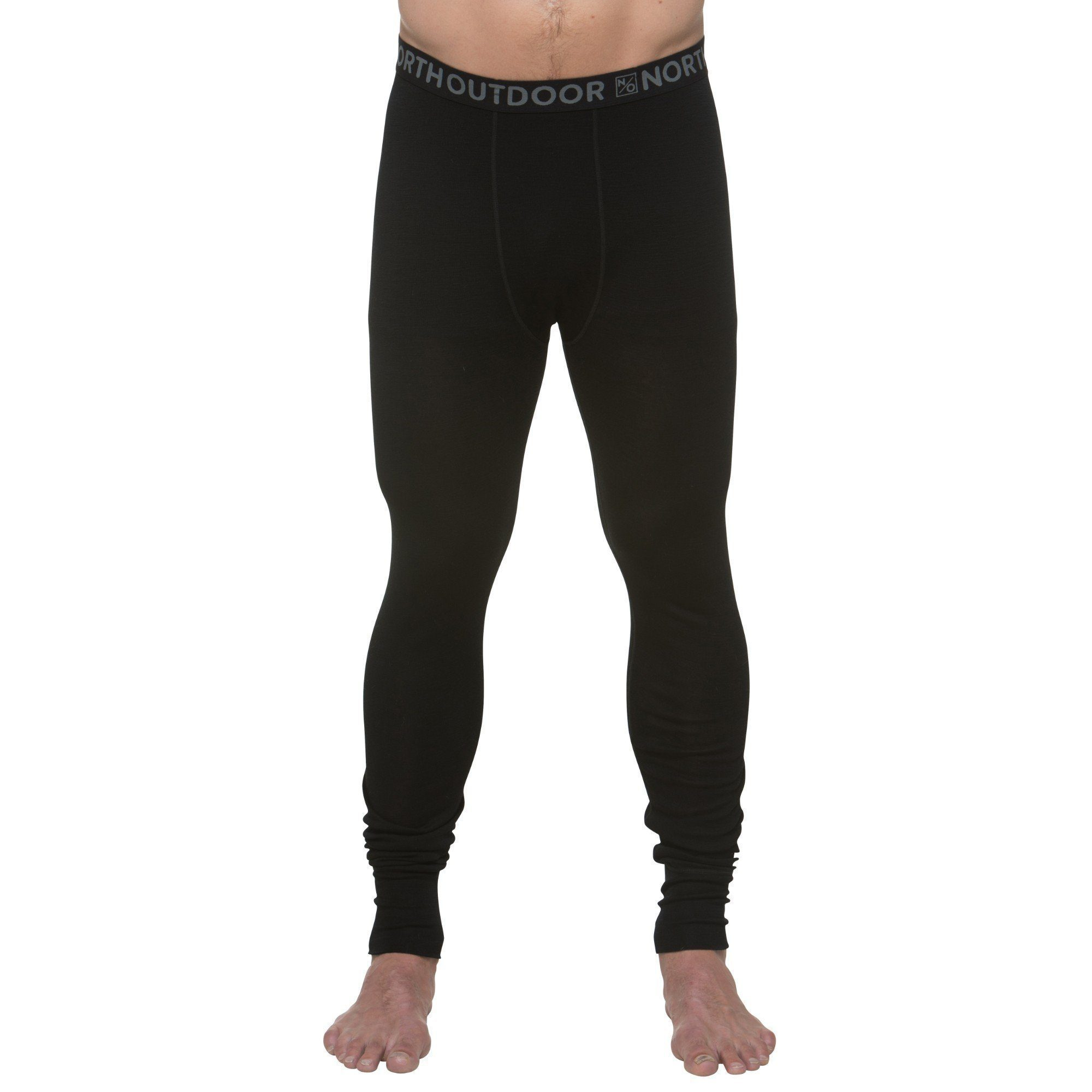 North Outdoor - Men's Baselayer Pants - 100 % Merino Wool - ACTIVE 210 - Weekendbee - sustainable sportswear