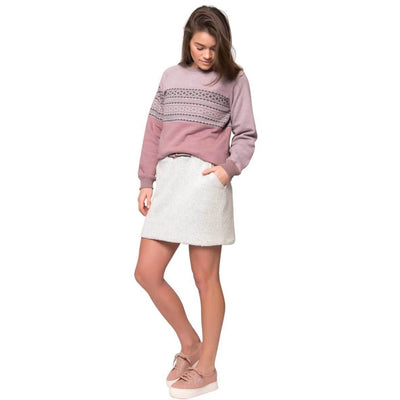 Varg - Fårö wool skirt - Off White - Recycled Wool - Weekendbee - sustainable sportswear