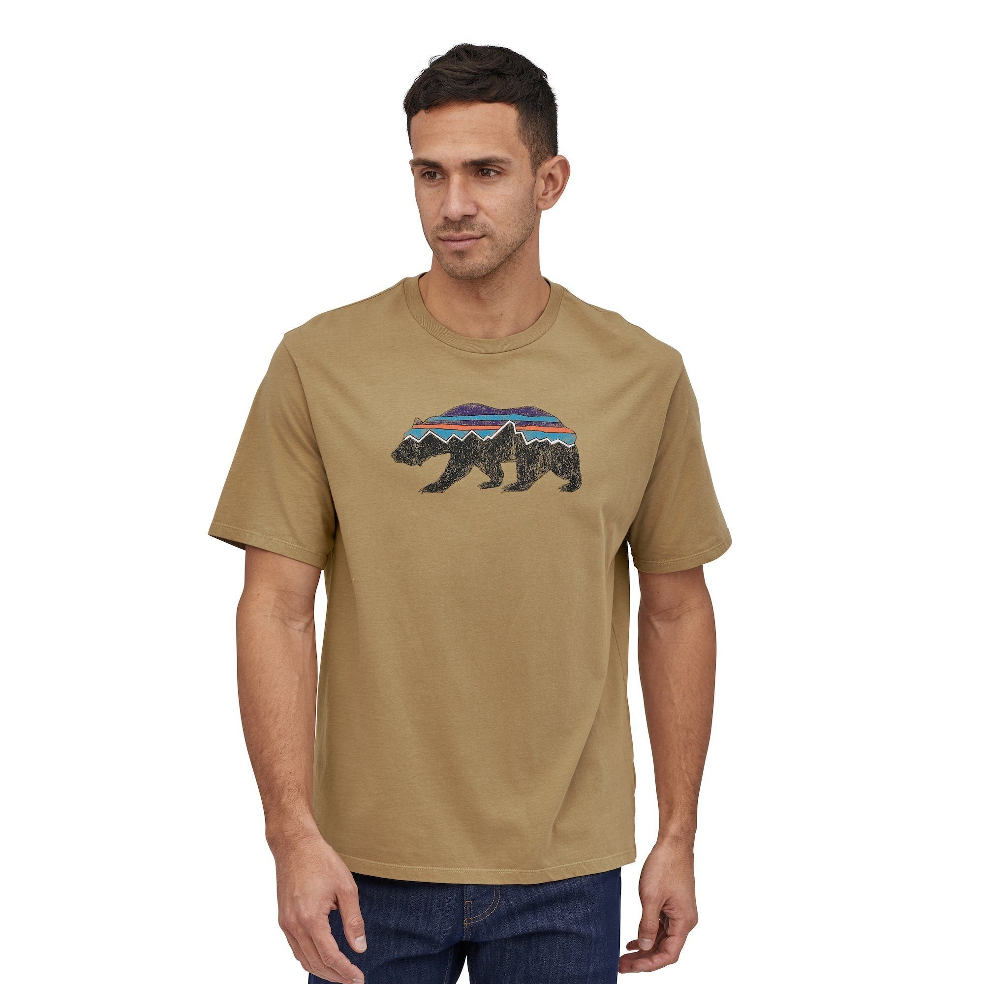 Patagonia - Fitz Roy Bear Organic Cotton T-Shirt - Organic Cotton - Weekendbee - sustainable sportswear