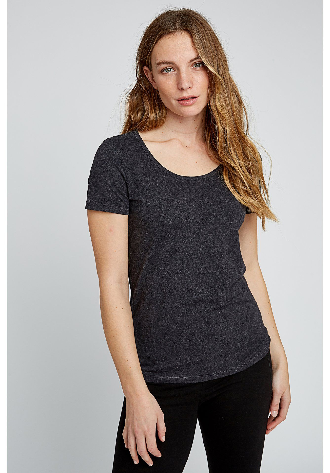 People Tree - Gaia Tee in Grey - Organic Cotton - Weekendbee - sustainable sportswear
