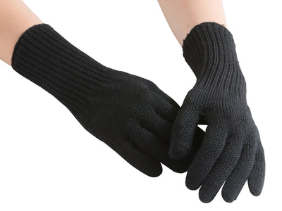 North Outdoor - Huurre Gloves - Black - 100% Merino Wool - Made in Finland - Weekendbee - sustainable sportswear
