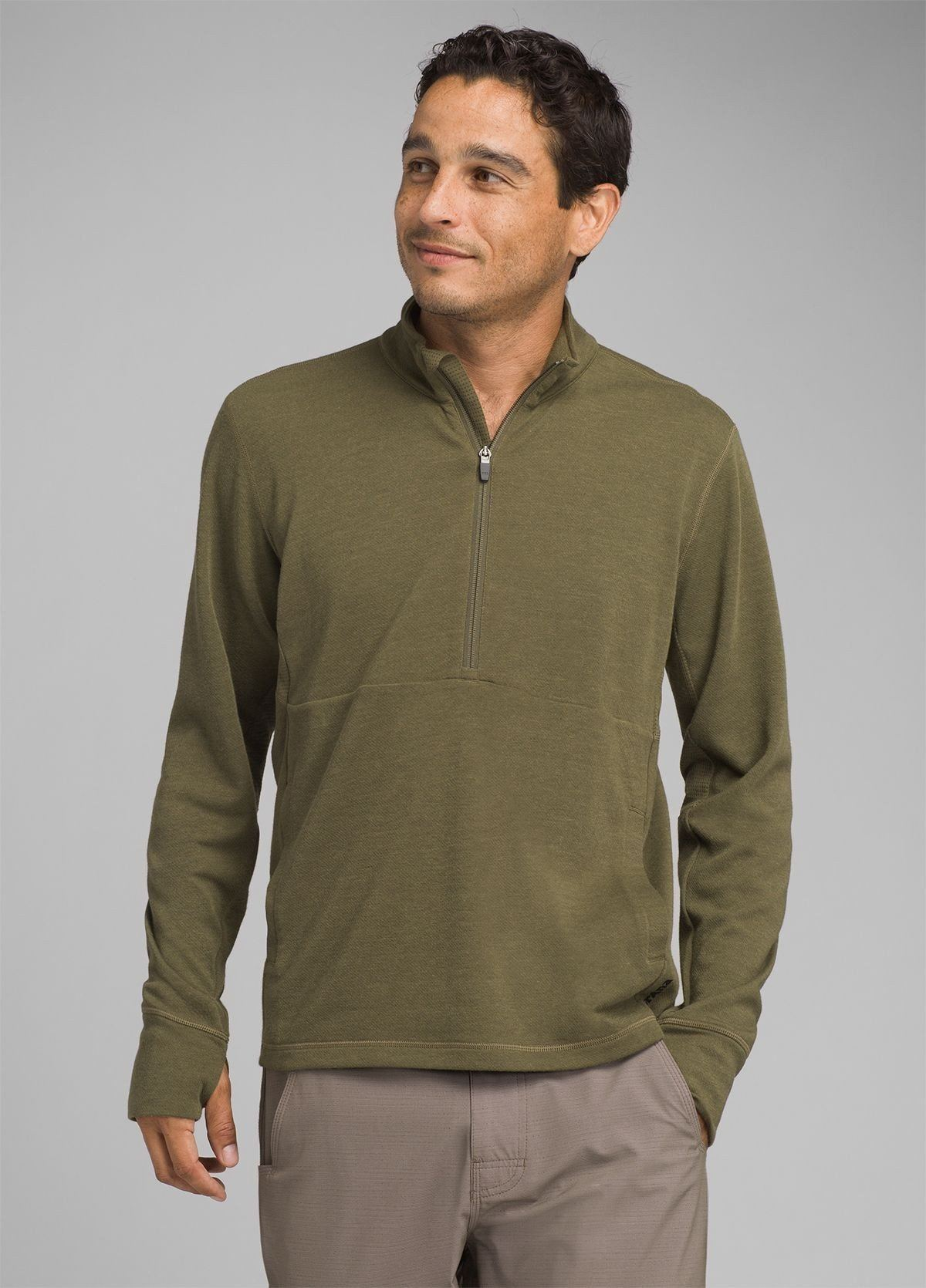 PrAna - Jarvis 1/2 Zip Sport Shirt - Recycled Material/Wool - Weekendbee - sustainable sportswear