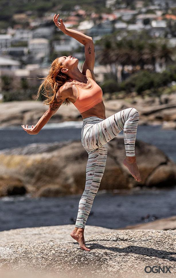 OGNX - Leggings Aquarell - Organic Cotton - Weekendbee - sustainable sportswear