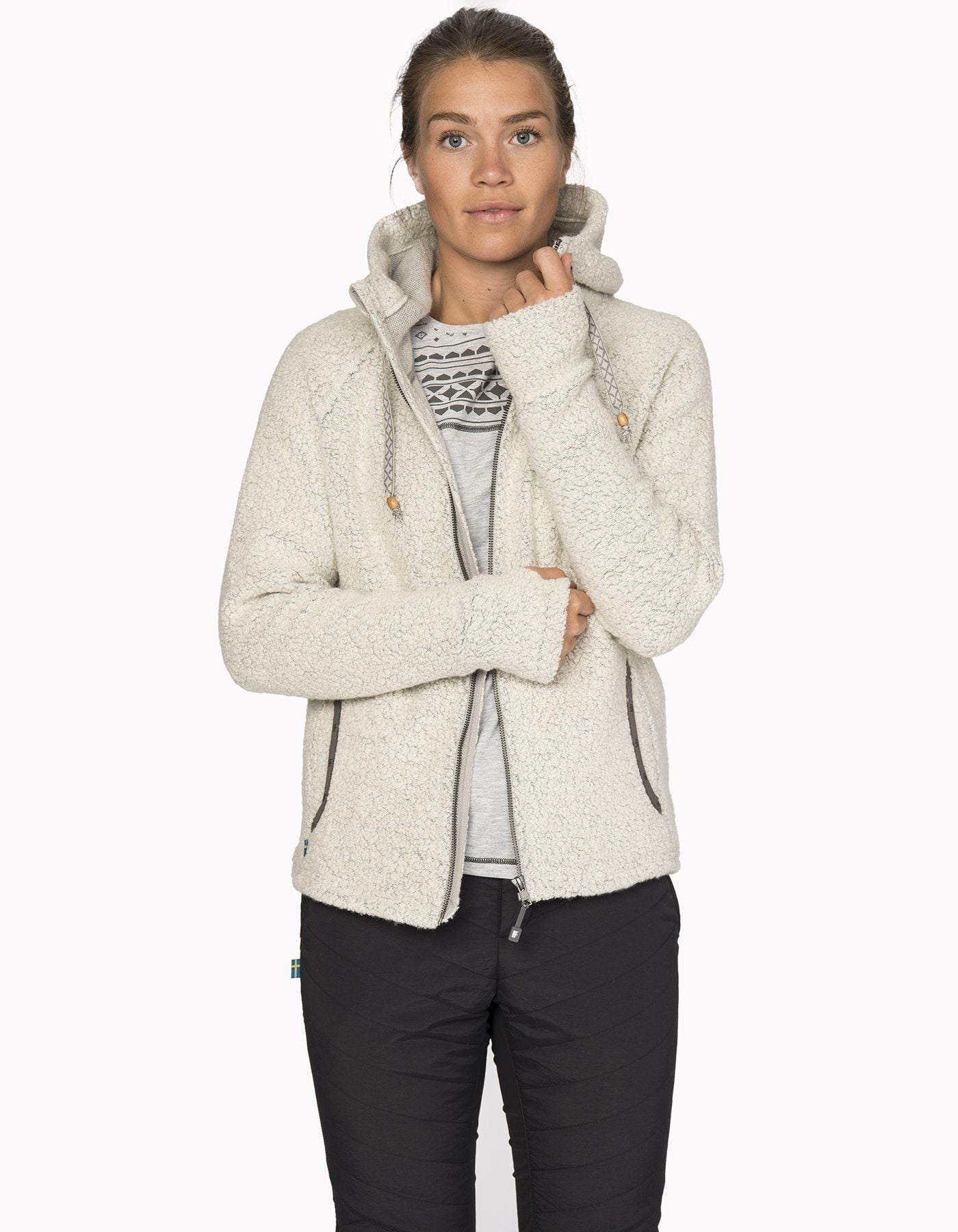 Varg - Malö wool hoodie - Off White - Recycled Wool - Weekendbee - sustainable sportswear