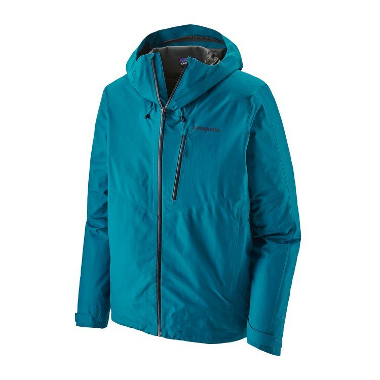 Patagonia - Men's Calcite Jacket - Balkan Blue - 100% recycled polyester - Weekendbee - sustainable sportswear