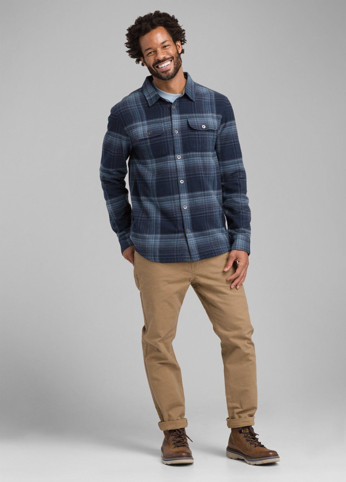 PrAna - Men's Lybek Midweight Flannel - Organic Cotton - Weekendbee - sustainable sportswear