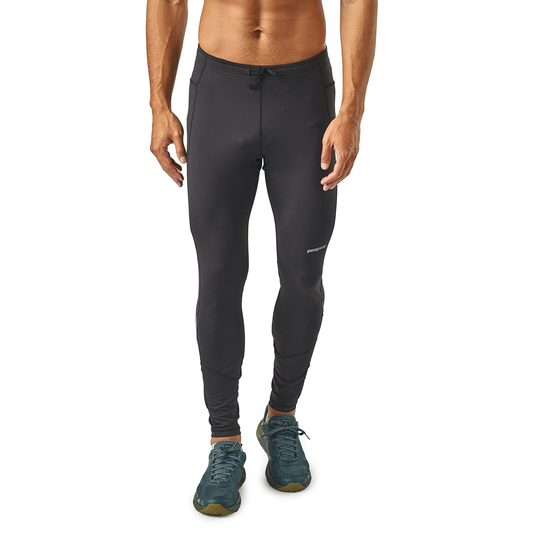 Patagonia - Men's Peak Mission Winter Running Tights - Black - Recycled Nylon - Weekendbee - sustainable sportswear
