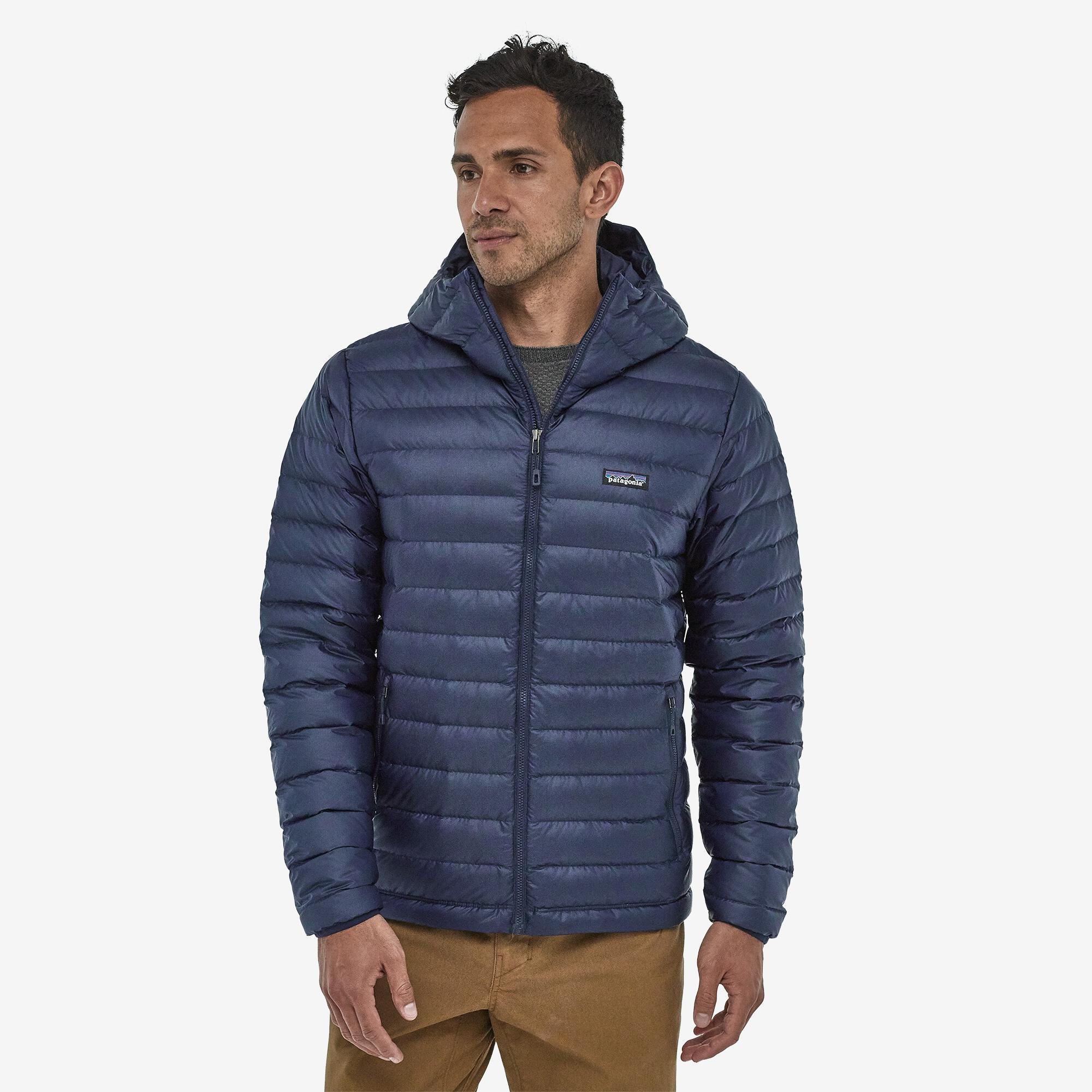 Patagonia - M's Down Sweater Hoody - Recycled Polyester - Weekendbee - sustainable sportswear