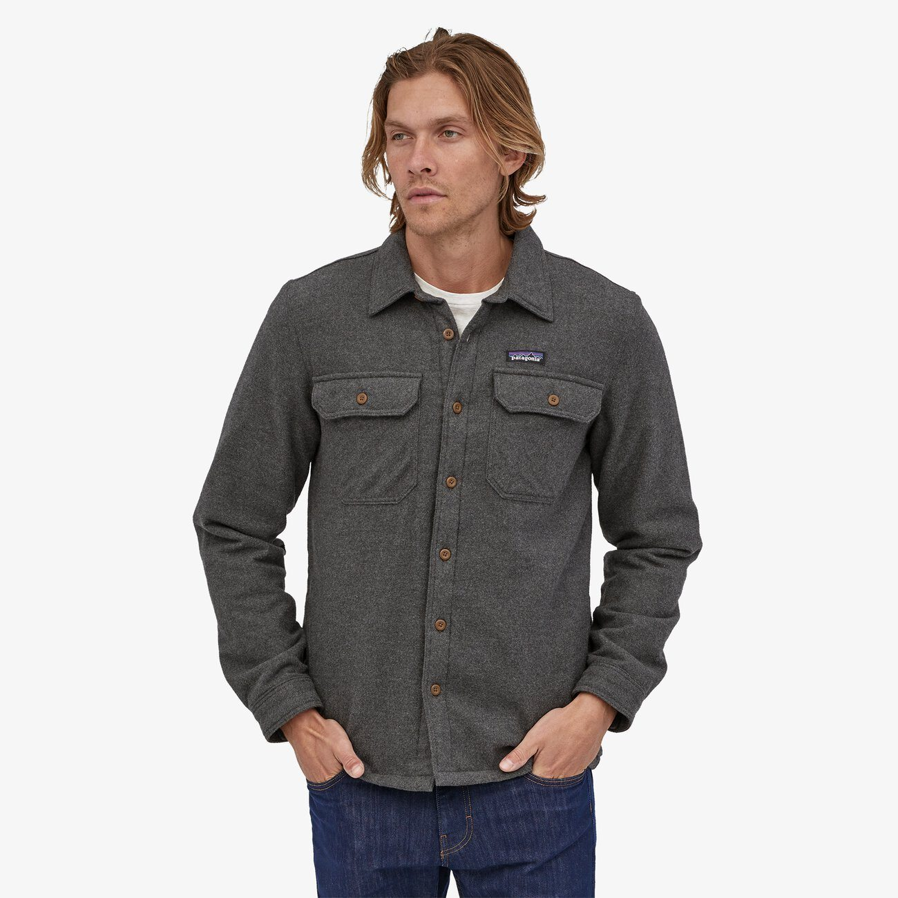 M's Insulated Fjord Flannel Jacket Jacket Patagonia Forge Grey S