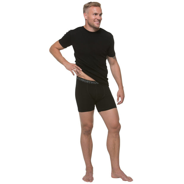 North Outdoor - Men's boxers - 100 % Merinowool ACTIVE 210 - Weekendbee - sustainable sportswear