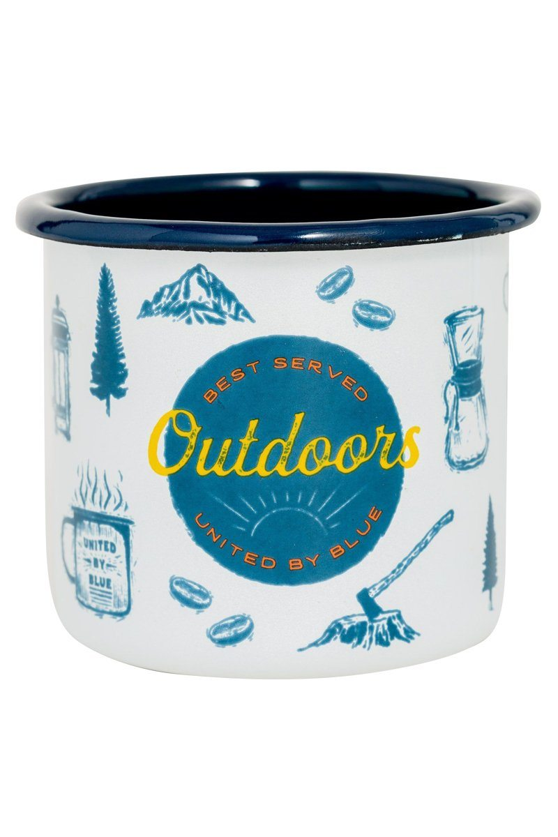 United By Blue - Outdoors Enamel 12 oz. Mug - Weekendbee - sustainable sportswear