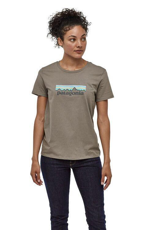 Patagonia - Pastel P-6 Logo Organic Cotton Crew T-Shirt - Organic cotton - Weekendbee - sustainable sportswear