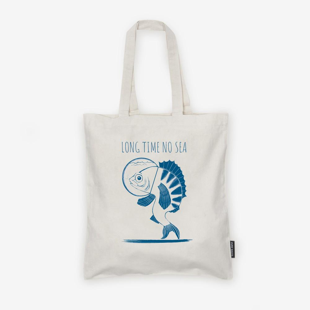 Weekendbee - Long Time No Sea - Charity Canvas Bag - Weekendbee - sustainable sportswear
