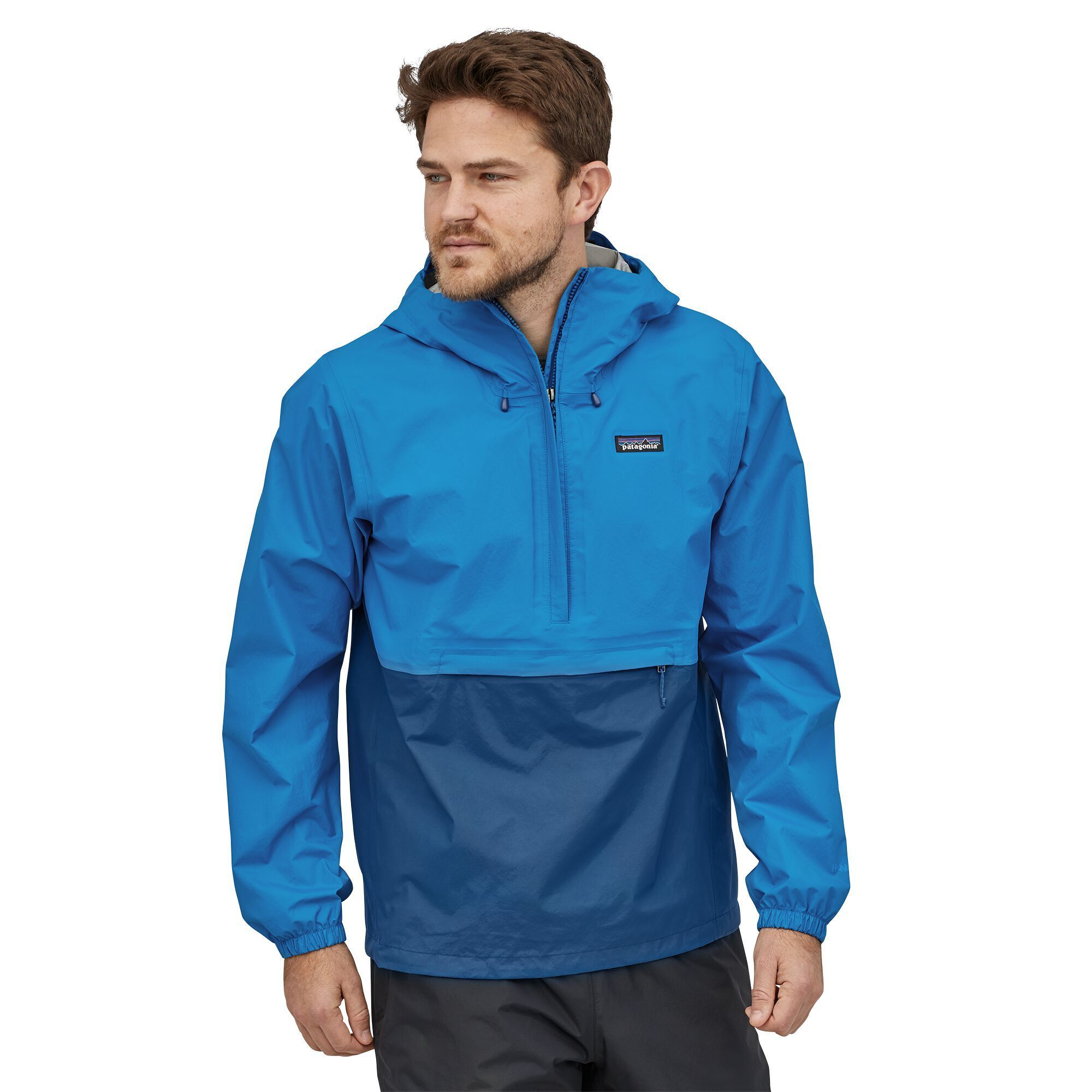 Patagonia - M's Torrentshell 3L Pullover - 100% Recycled Nylon - Weekendbee - sustainable sportswear