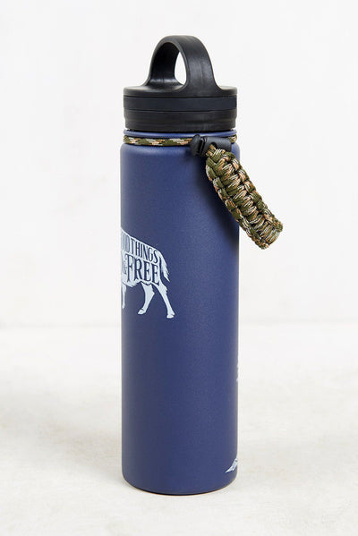 United By Blue - Wild & Free 22 oz. Insulated Steel Water Bottle - Weekendbee - sustainable sportswear