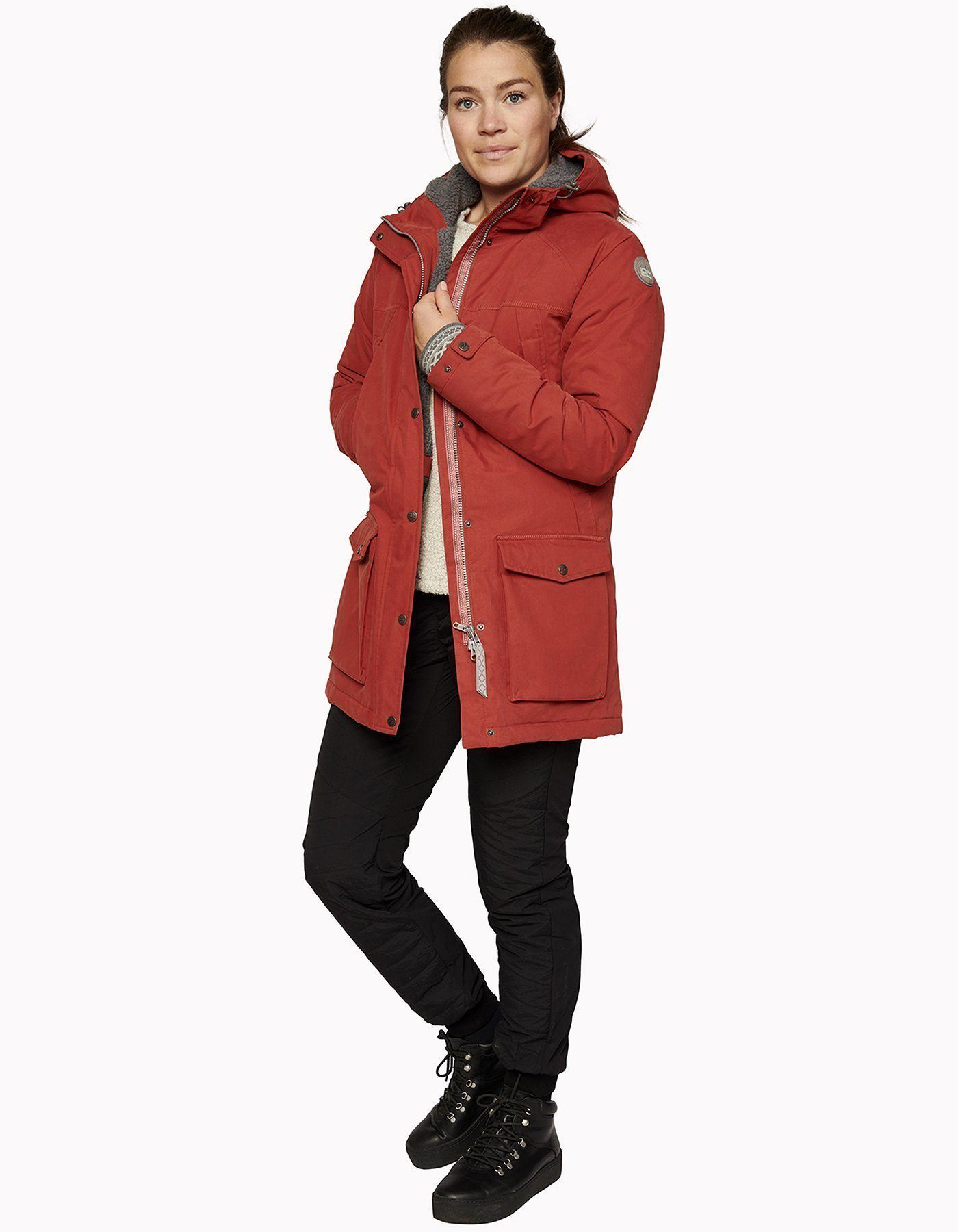 Varg - Women's Åre Parka Jacket - Recycled polyester & cotton - Weekendbee - sustainable sportswear