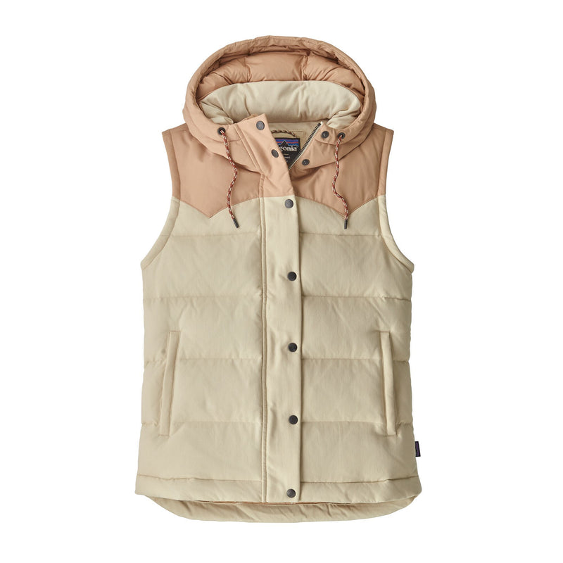 Patagonia - Women's Bivy Hooded Vest - Oyster White - Nylon - Weekendbee - sustainable sportswear