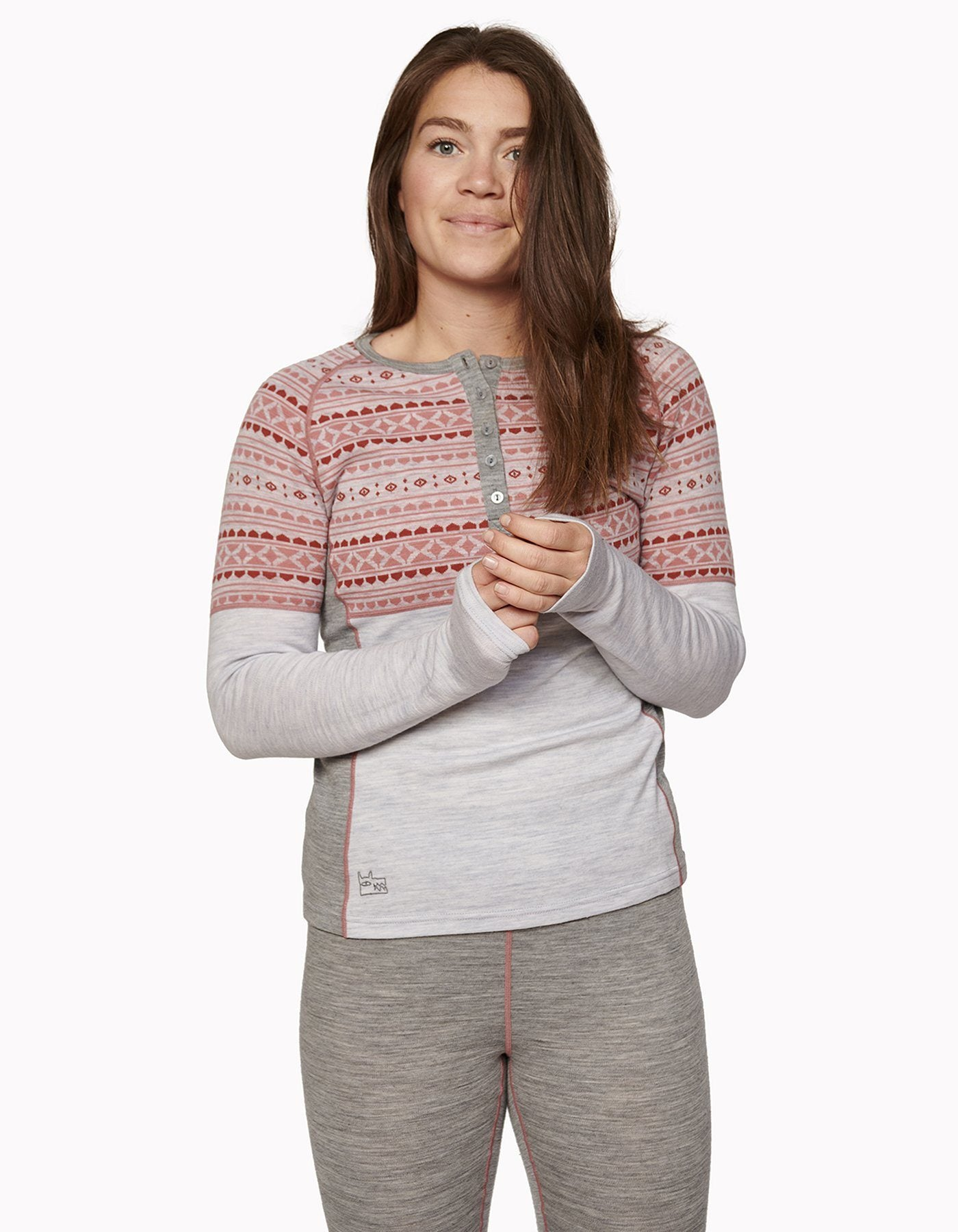 Varg - Women's Blanktjärn Wool Jersey - Winter Grey/Dalarna - Merino Wool - Weekendbee - sustainable sportswear