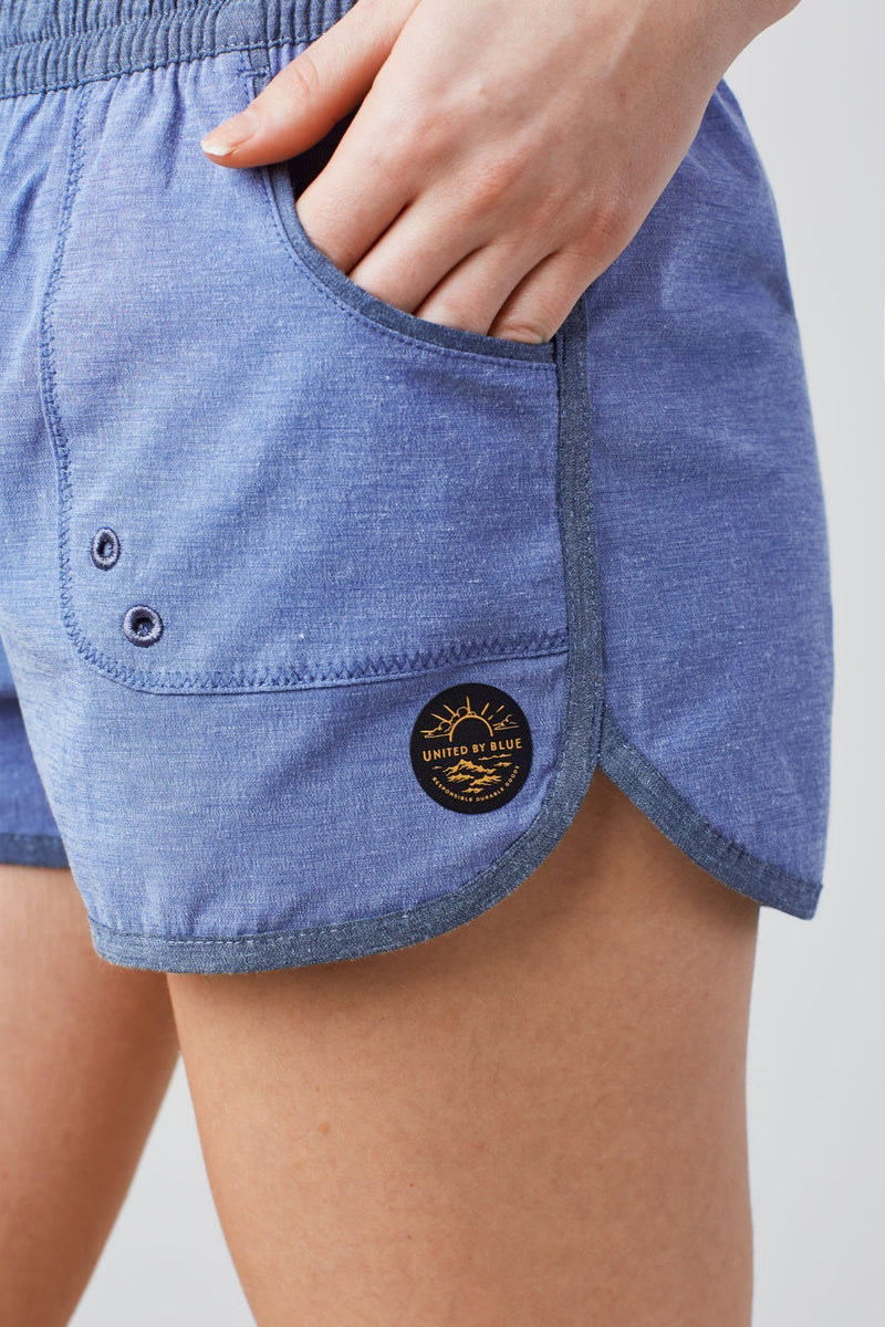 United By Blue - Women's Classic Board Short-BLUE - Weekendbee - sustainable sportswear