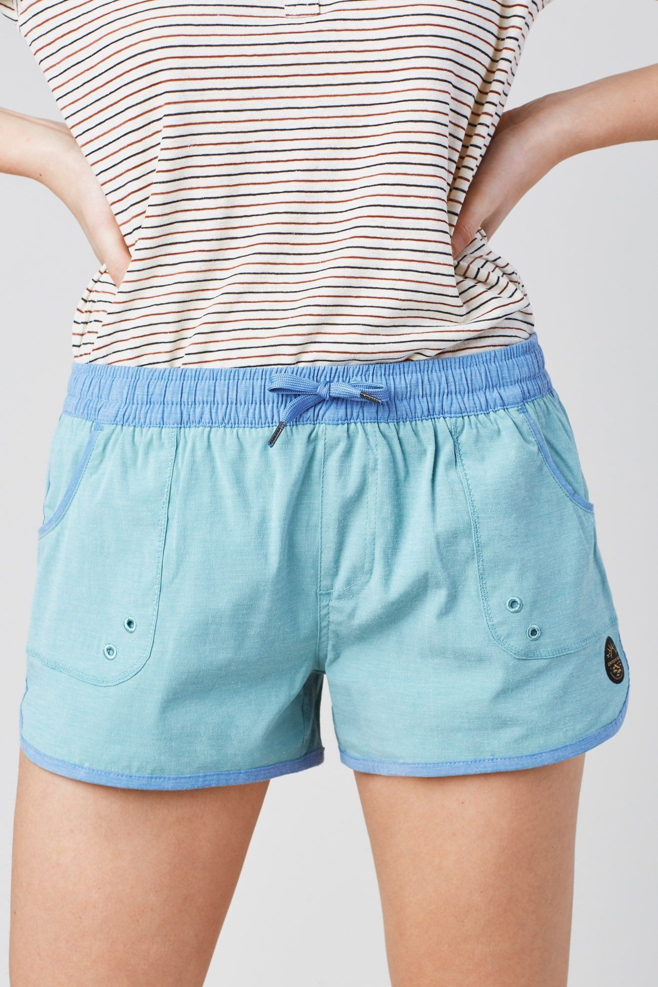 United By Blue - W's Shoreline Board Short - Sea Green - Organic Cotton & Recycled polyester - Weekendbee - sustainable sportswear