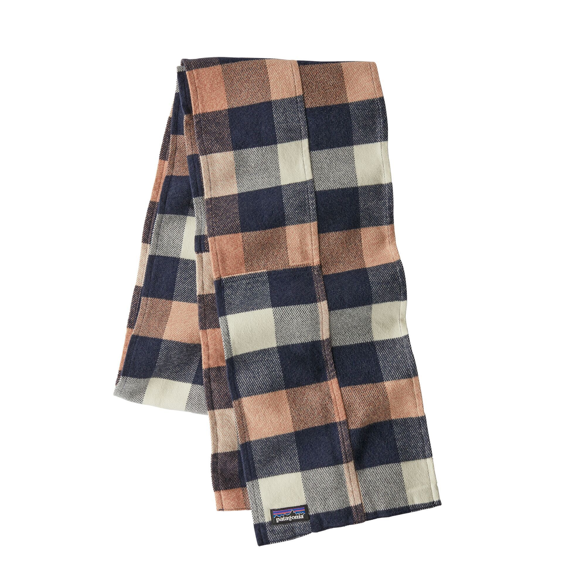 Patagonia - Women's Fjord Flannel Patchwork Scarf - Upriver: Century Pink - Organic Cotton - Weekendbee - sustainable sportswear