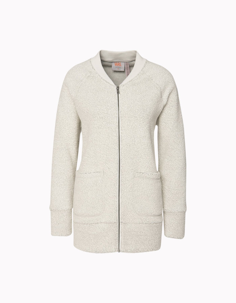 Varg - Women's Gudhjem Wool Cardigan - Off White - Recycled Wool - Weekendbee - sustainable sportswear