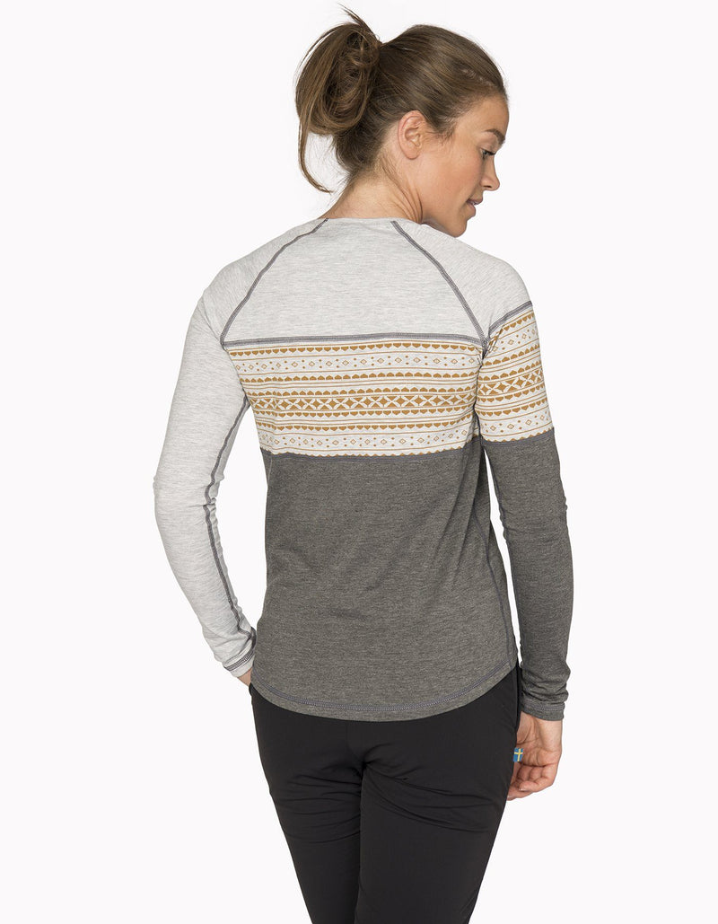 Varg - Women's Idrey Function Jersey - Grey/Merigold - Recycled Polyester - Weekendbee - sustainable sportswear
