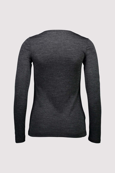 Mons Royale - Women's No Ordinary V-neck Longsleeved T-Shirt - Merino wool & Tencel - Weekendbee - sustainable sportswear