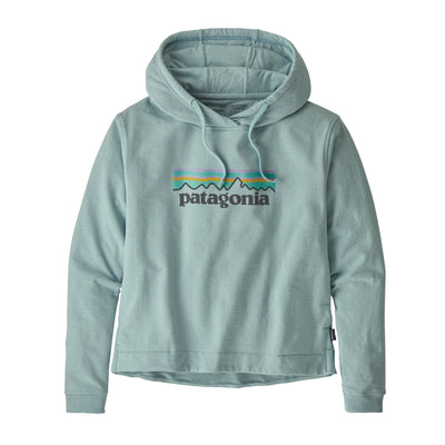 Patagonia - Women's Pastel P-6 Logo Uprisal Hoody - Recycled cotton / Recycled polyester - Weekendbee - sustainable sportswear