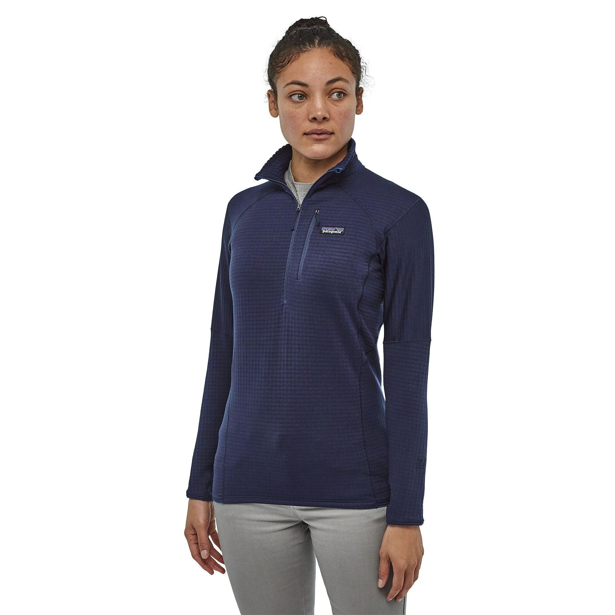 Patagonia - W's R1® Fleece Pullover - Recycled Polyester - Weekendbee - sustainable sportswear