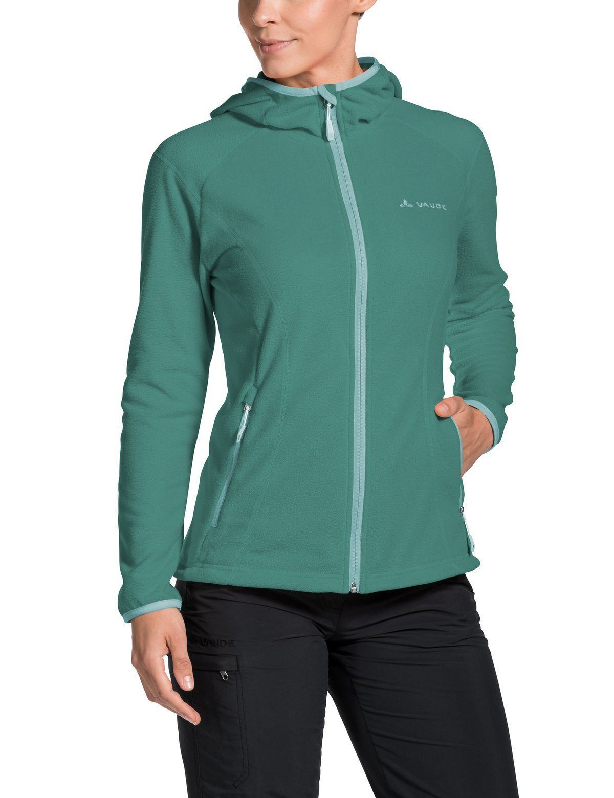 Vaude - W's Sunbury Hoody Jacket - made from high-quality fleece - Weekendbee - sustainable sportswear