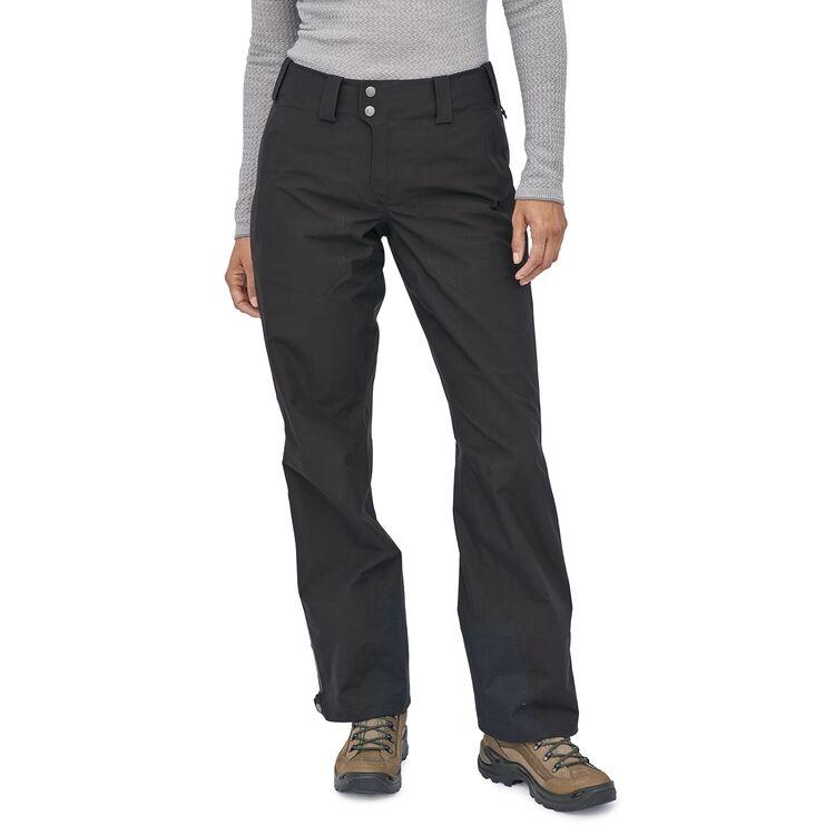 Patagonia - W's Triolet Gore-Tex Alpine Pants - Black - 100% Recycled Polyester - Weekendbee - sustainable sportswear