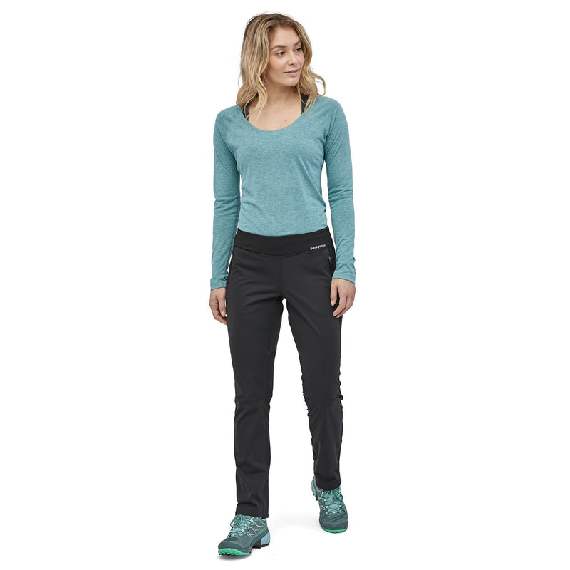 Patagonia - Women's Wind Shield Soft Shell Pants - Black - Recycled Polyester - Weekendbee - sustainable sportswear