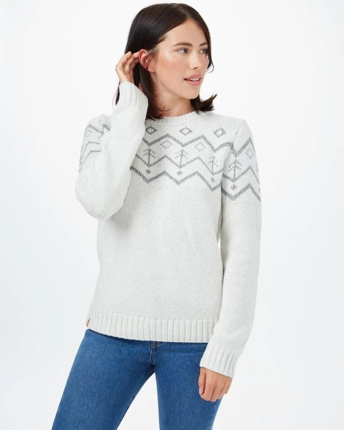 Tentree - W's Highline Wool Intarsia Sweater - Weekendbee - sustainable sportswear