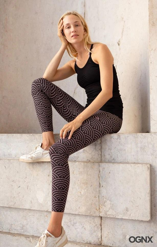 OGNX - W's Leggings Shibori Heart - Organic Cotton - Weekendbee - sustainable sportswear