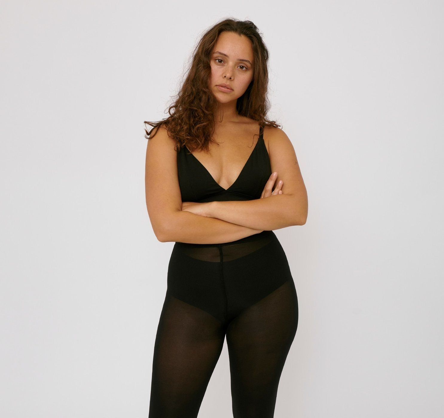 Organic Basics - W's Re-Tights High-Rise 80 Den 2-pack - Recycled Nylon - Weekendbee - sustainable sportswear