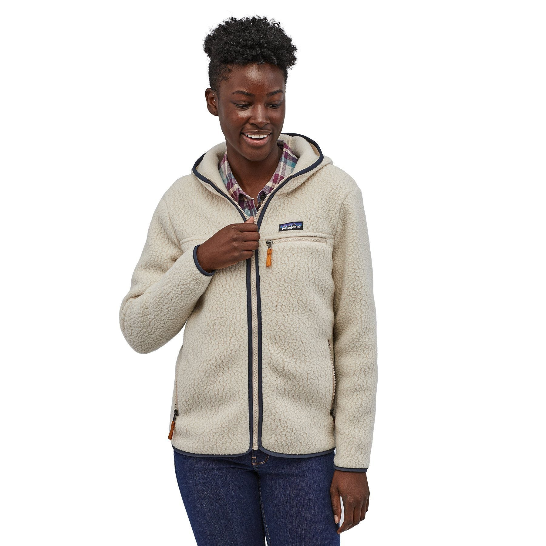 Patagonia - W's Retro Pile Fleece Hoody - Recycled Polyester - Weekendbee - sustainable sportswear