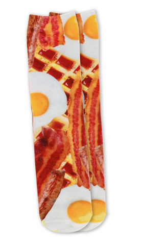 Bacon Me Crazy Hyper Real Socks