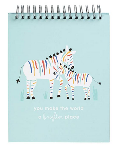 Rainbow Zebra Baby Milestone Cards Photo Prop Flipbook, 8.5'' X 10.5''