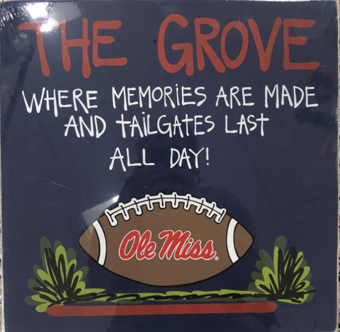 "Ole Miss ""The Grove"" Wooden Sign"