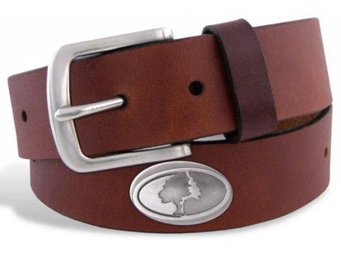 Zep-Pro Men's Mossy Oak Tree No Tip Leather Concho Belt, Brown