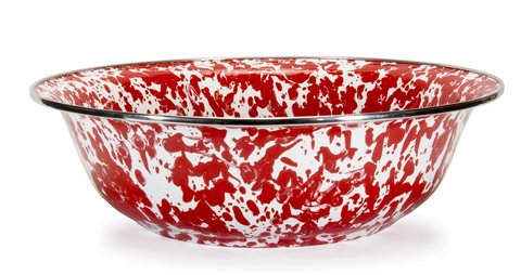 Red Swirl Serving Basin