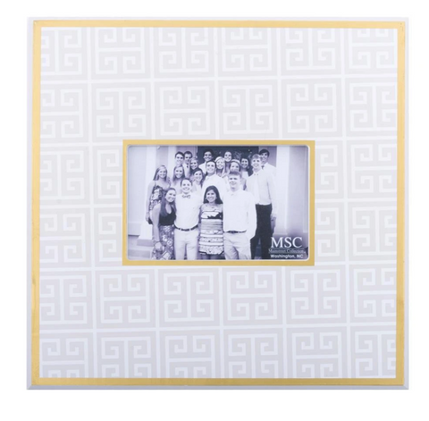 Taupe Key Pattern Picture Frame
