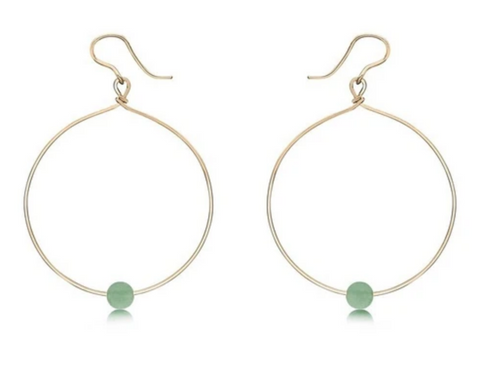 Breathe Earrings, Aventurine
