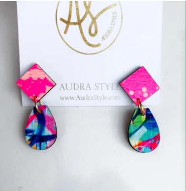 Claire Neon Pink Autumn Earrings