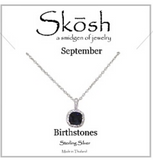 Silver Skosh Birthstone Necklaces